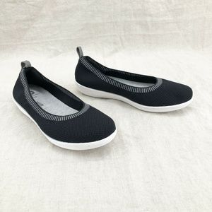 CLARKS Black CloudSteppers Ayla Paige Slip On Shoe
